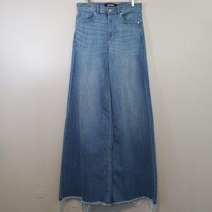 Express Stretch High Waist Wide Leg Jeans Sz 6